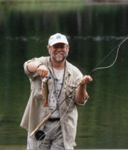 Steve Carpenter with trout