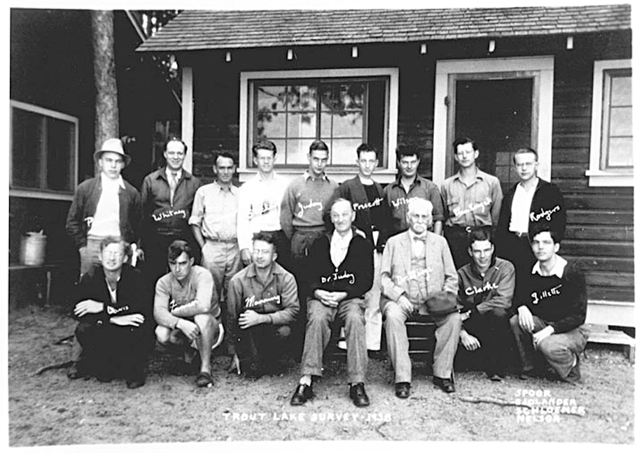 Trout Lake Survey - 1938 including Dr Birge and Dr Juday