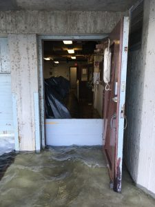 Heavy rains and already high water levels had Lake Mendota knocking on the back door of Hasler Lab this summer. Photo: Adam Hinterthuer