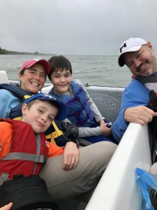 Gretchen and her family - husband, Ben, and sons, Luke (11) and Alex (8), are all looking forward to their new adventure in the Northwoods