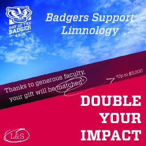 Logo during Day of The Badger fundraising event - Day of the Badger Double Your Impact - Thanks to generous faculty, your gift will be matched.